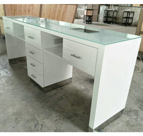 Durable nail table for manicure used nail polish display cabinet