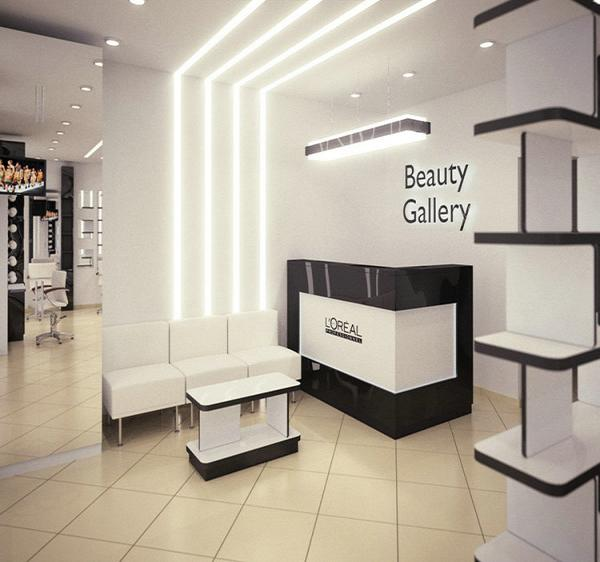Elegant L Shape Cash Counter For Cosmetic Shop Reception